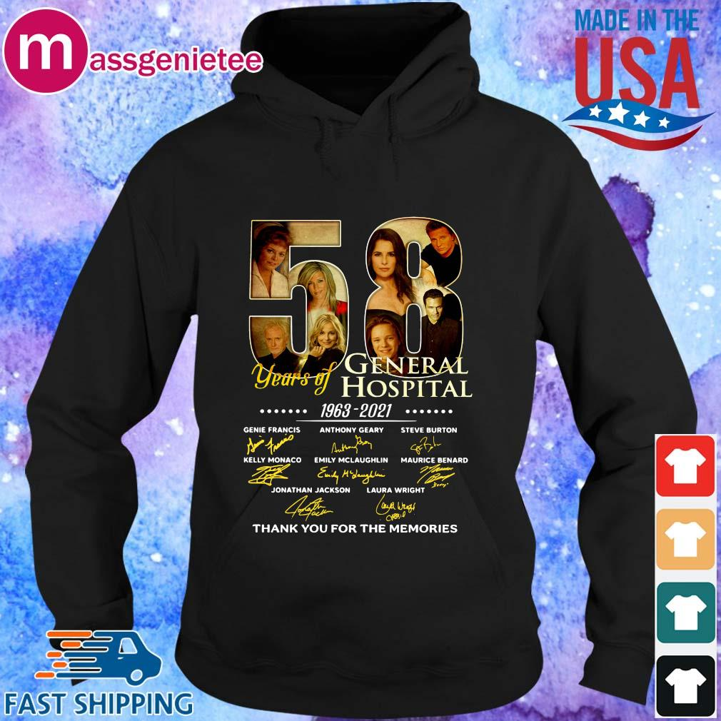 58 years General Hospital 1963 2021 thank you for the memories signatures s Hoodie den