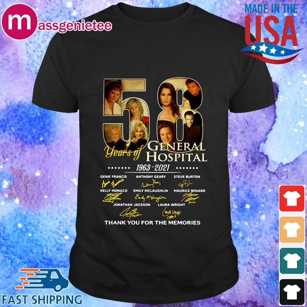 58 years General Hospital 1963 2021 thank you for the memories signatures shirt