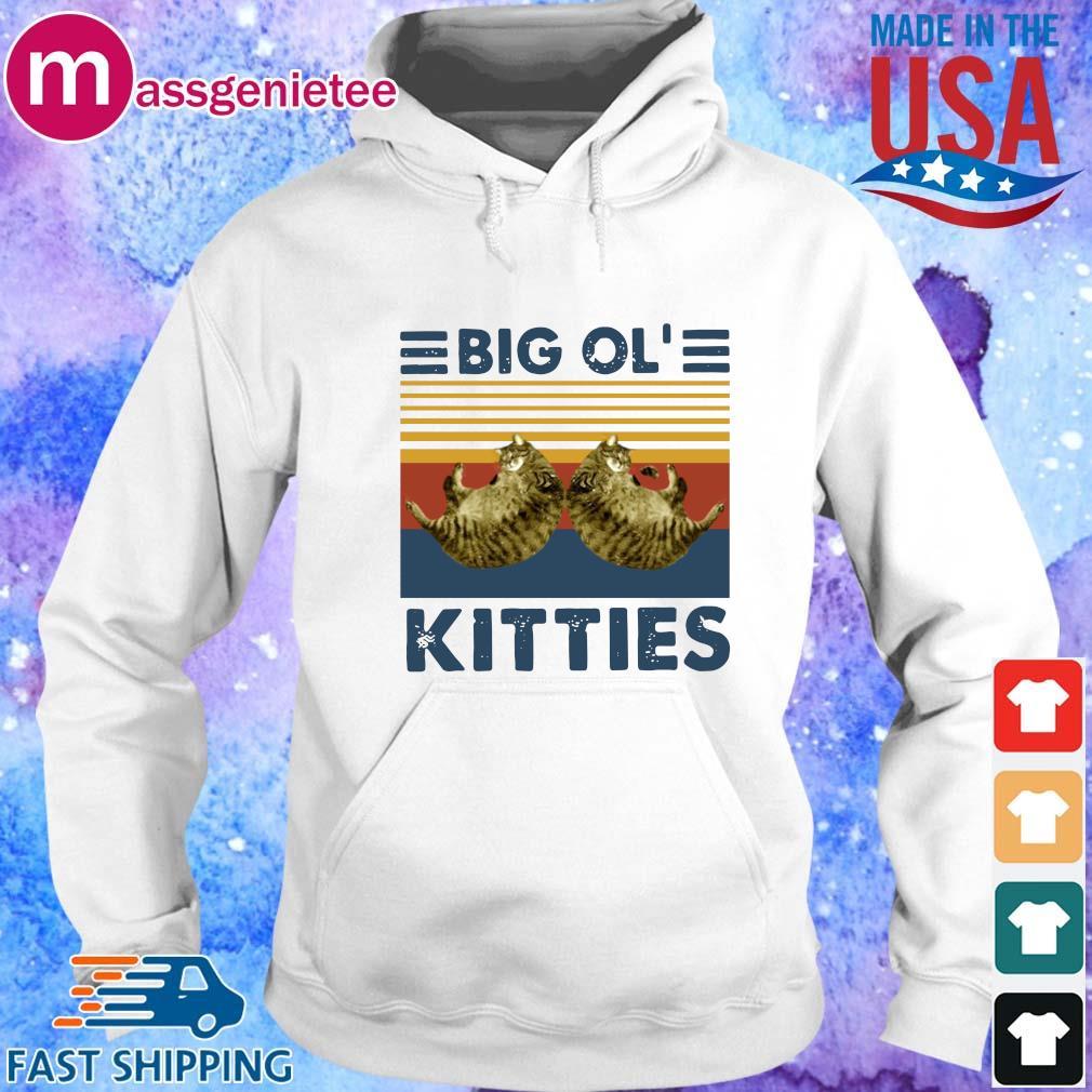 Cats big ol' kitties vintage shirts Hoodie trang