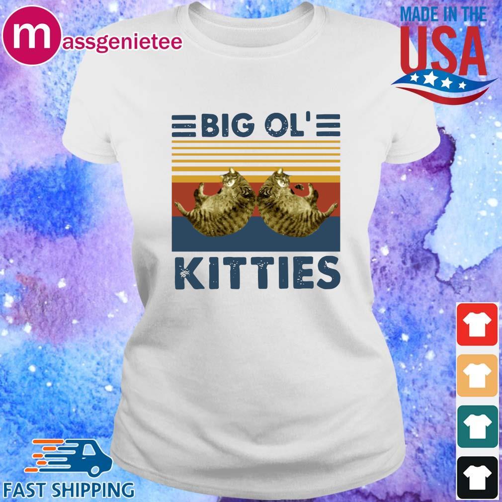 Cats big ol' kitties vintage shirts Ladies trang