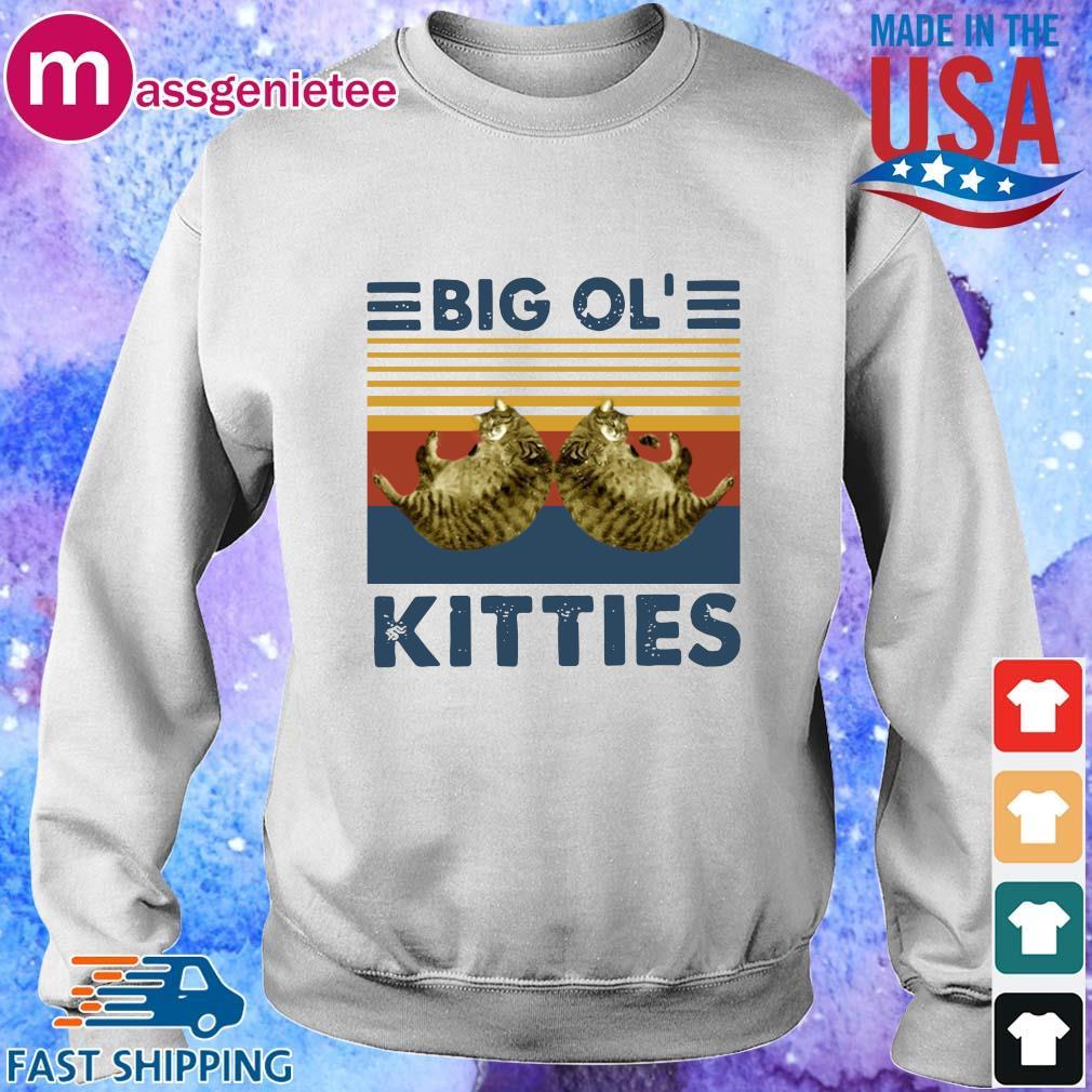 Cats big ol' kitties vintage shirts Sweater trang