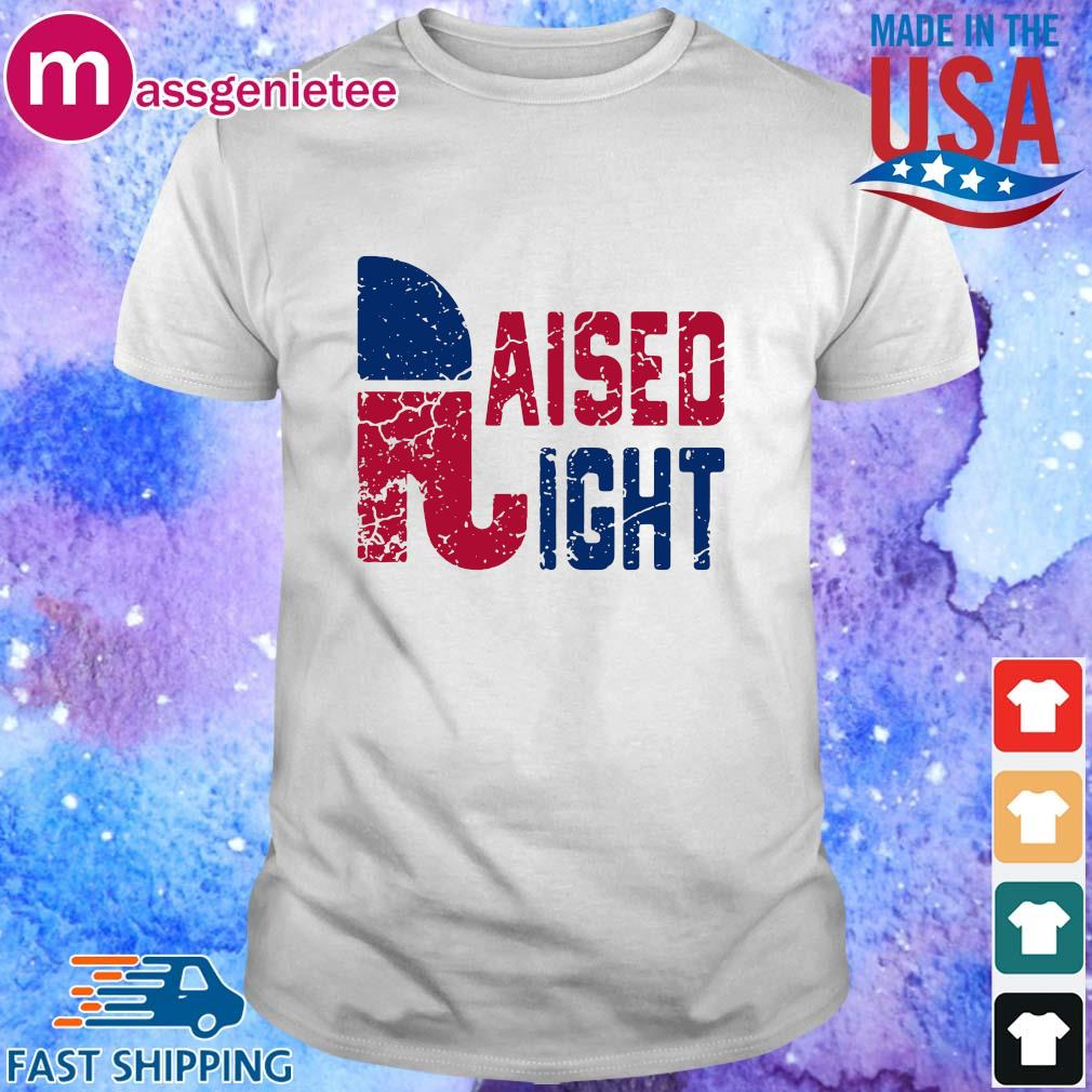 Republican party logo raised right tee shirt