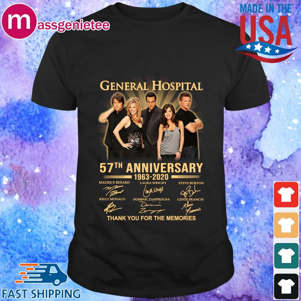 General Hospital 57th anniversary 1963 2020 signatures thank you for the memories shirt