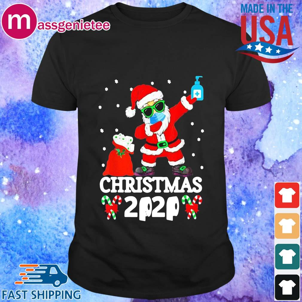Dabbing Santa face mask toilet paper Christmas 2020 sweater