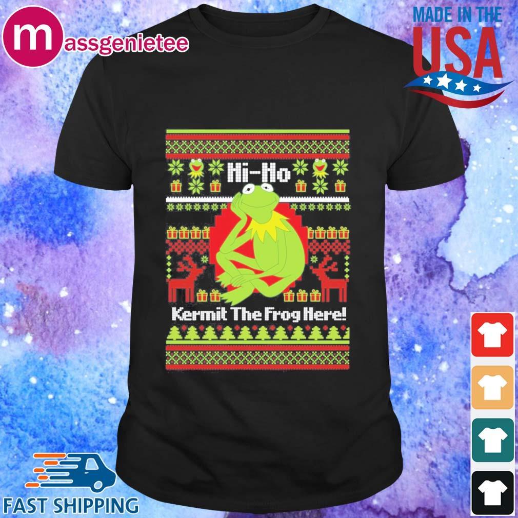 Hi Ho Kermit The Frog Here Christmas Sweatshirt - Copy