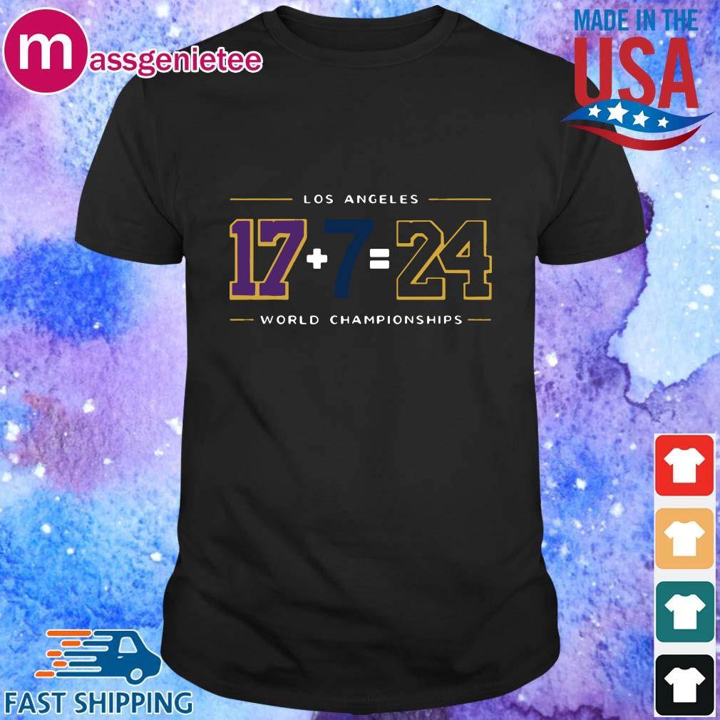 Los Angeles 17 7 24 Baseball World Championships shirt