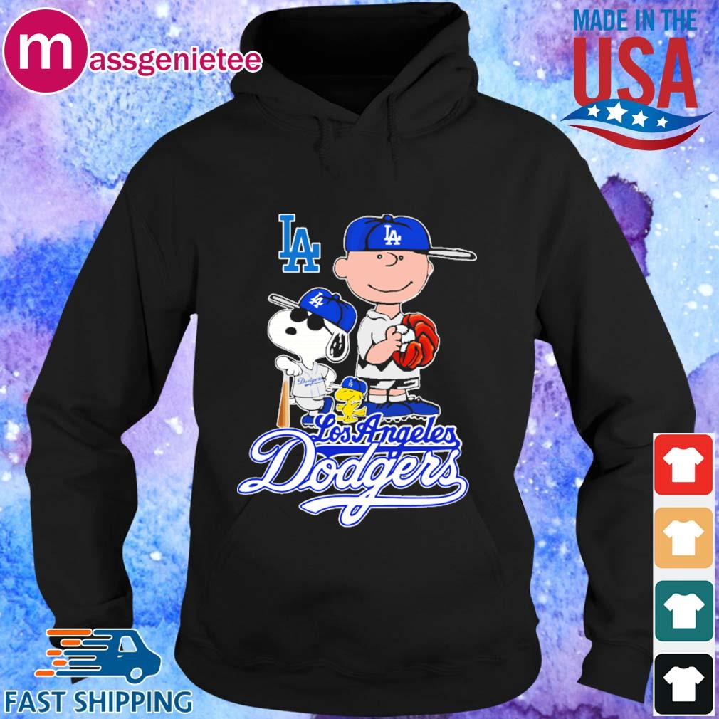 Los Angeles Dodgers Charlie Brown Snoopy and Woodstock baseball s Hoodie den