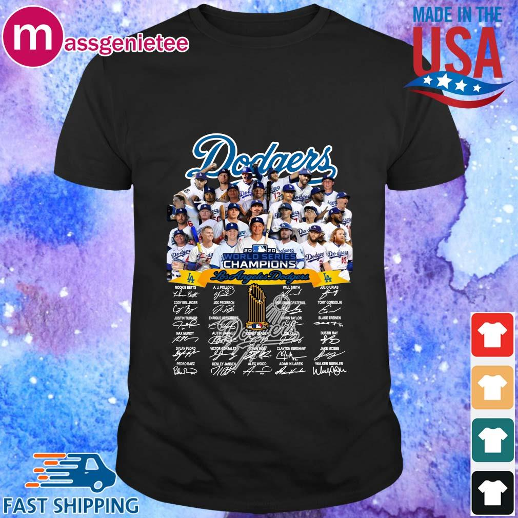 Los Angeles Dodgers full player 2020 world series Champions Shirt