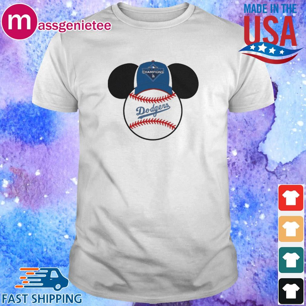 Los Angeles Dodgers Mickey Mouse Champions 2020 MLB Shirts