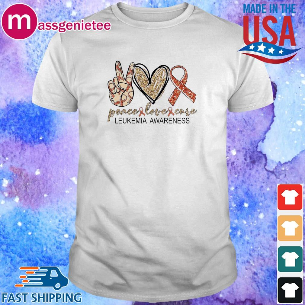 Peace Love Cure leukemia awareness Diamond shirt