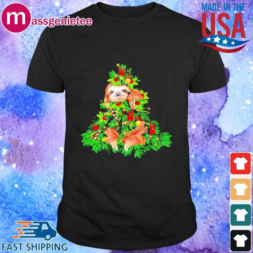 Sloth hide on Christmas tree sweater - Copy - Copy