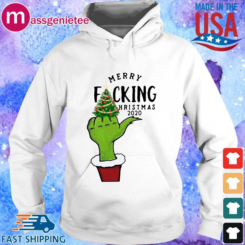 The Grinch merry fucking Christmas 2020 sweater Hoodie trang