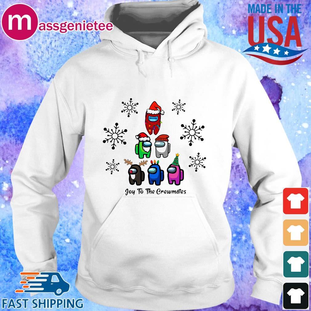 Among Us Character Joy To The Crewmates Christmas Tree Sweater Hoodie trang