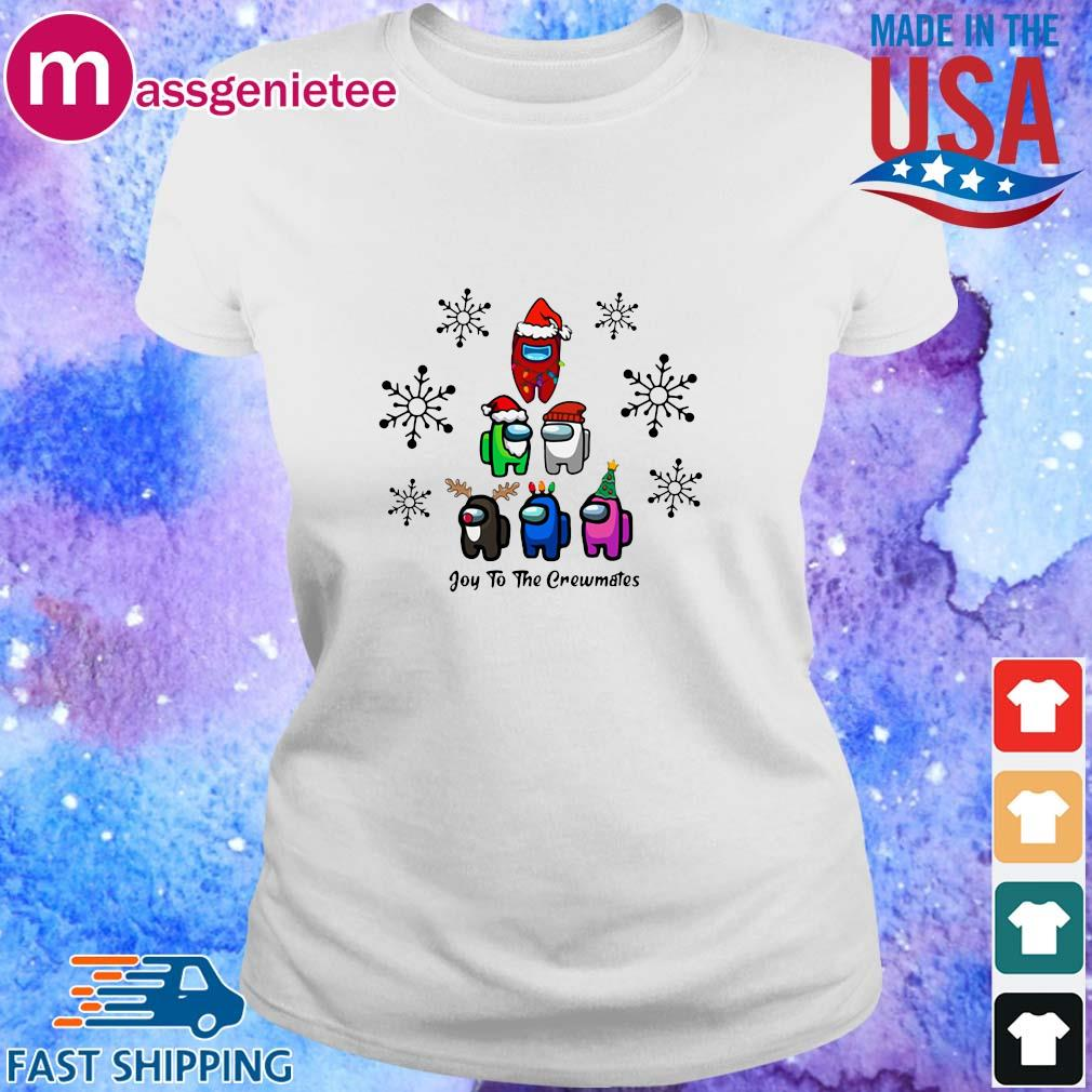 Among Us Character Joy To The Crewmates Christmas Tree Sweater Ladies trang