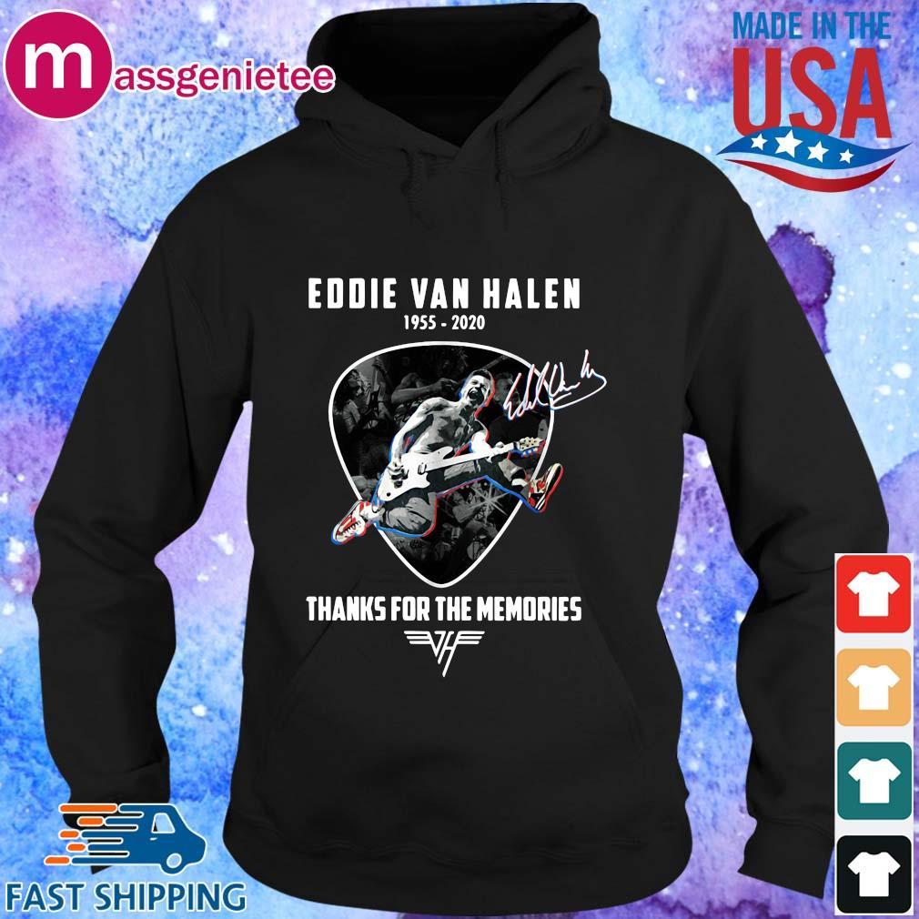 Eddie Van Halen playing Guitar 1955-2020 thanks for the memories signature s Hoodie den