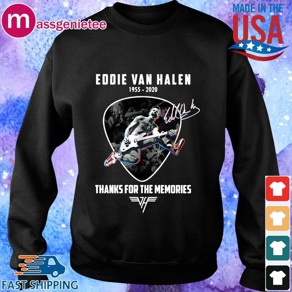 Eddie Van Halen playing Guitar 1955-2020 thanks for the memories signature s Sweater den