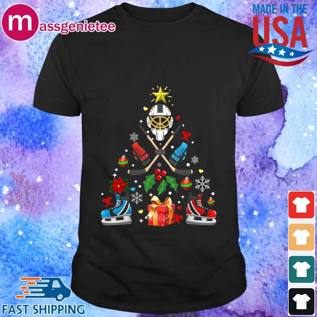 Hockey Christmas tree sweater