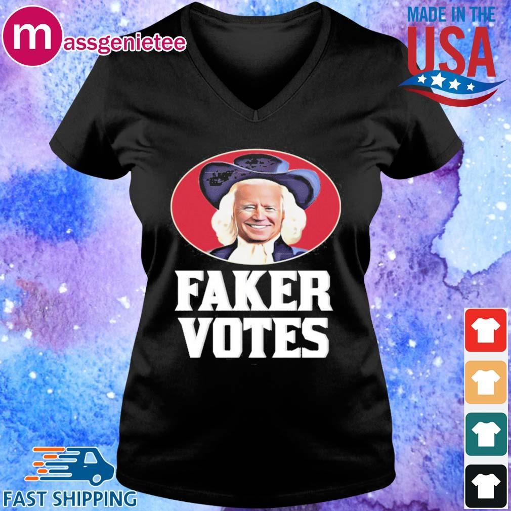 Joe Biden Faker Votes s V-Neck den