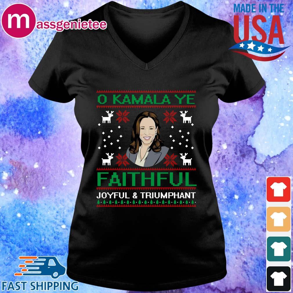O Kamala Ye Faithful Ugly Christmas Sweater V-Neck den