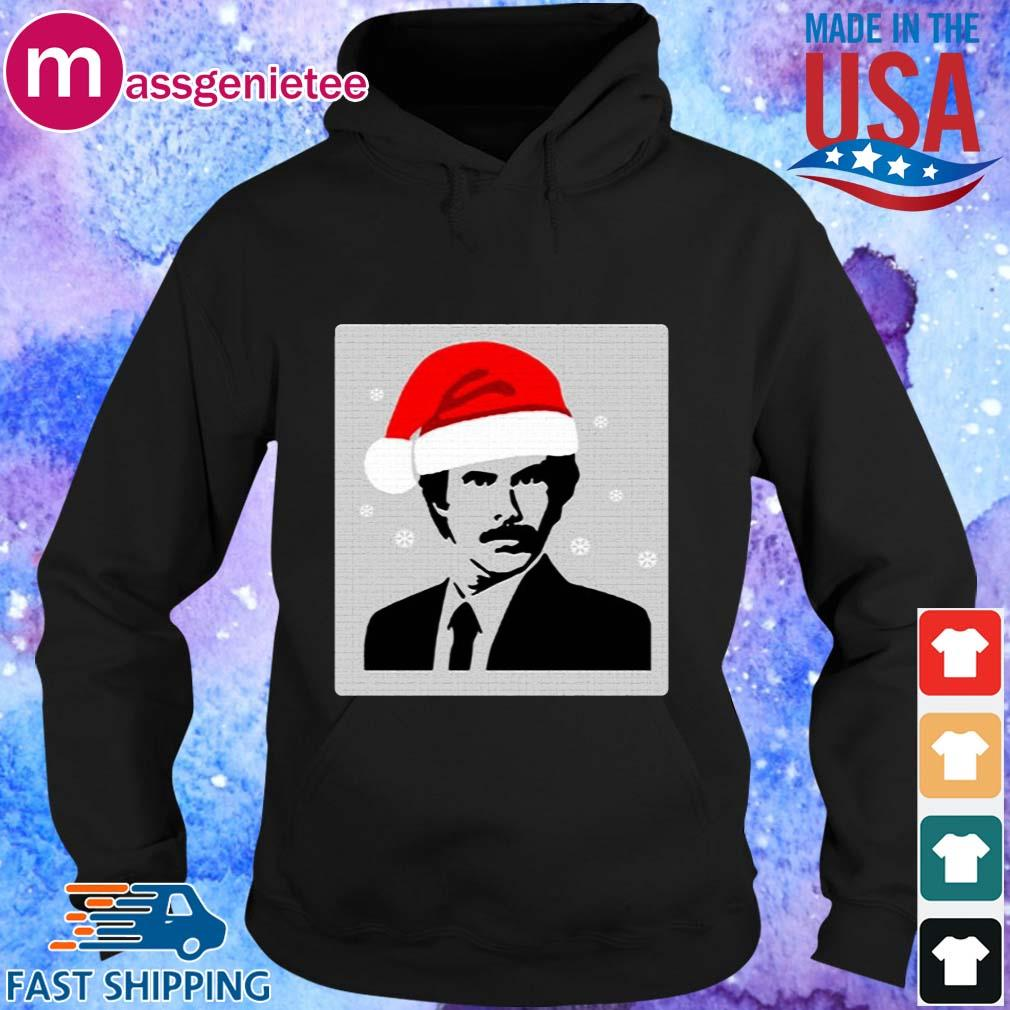 Official Ron Burgundy Santa Christmas sweats Hoodie den