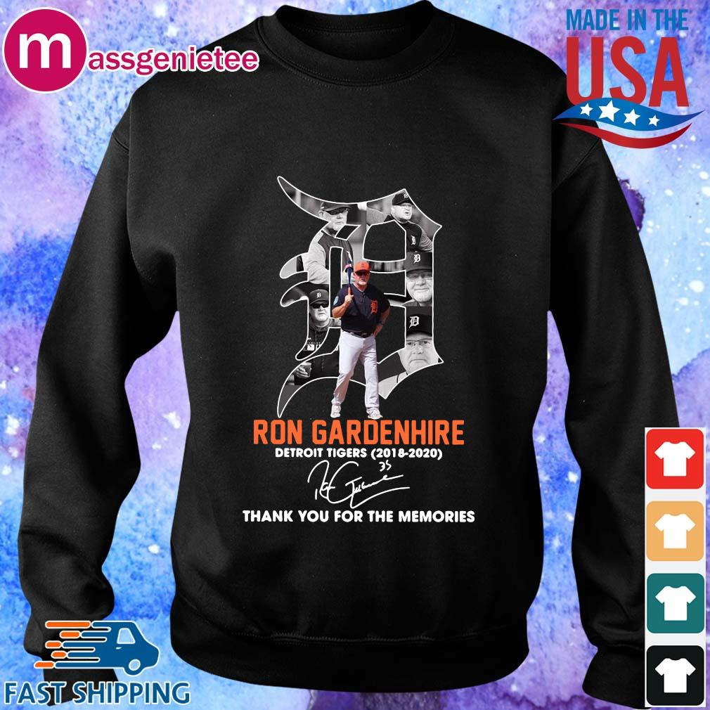 Ron Gardenhire Detroit Tigers 2018-2020 thank you for the memories signature s Sweater den