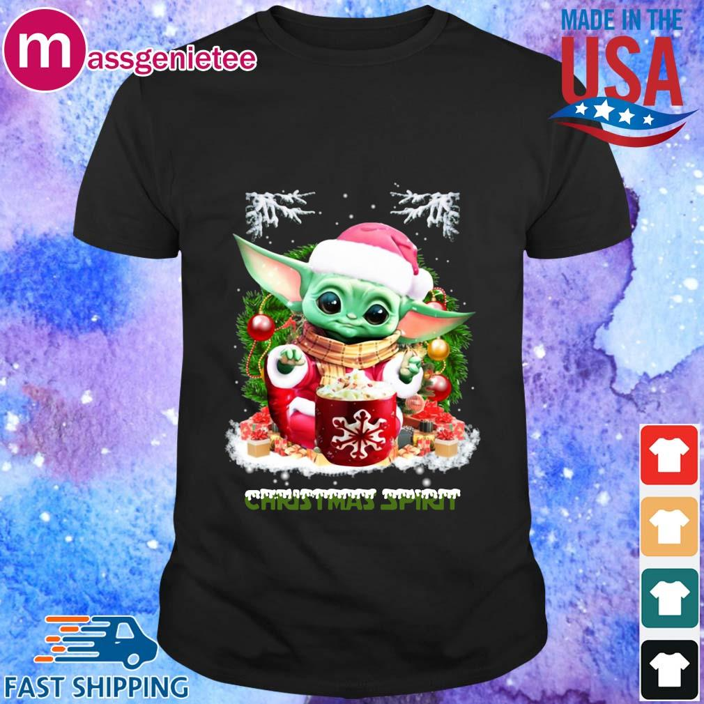 Santa Baby Yoda Christmas spirit sweater