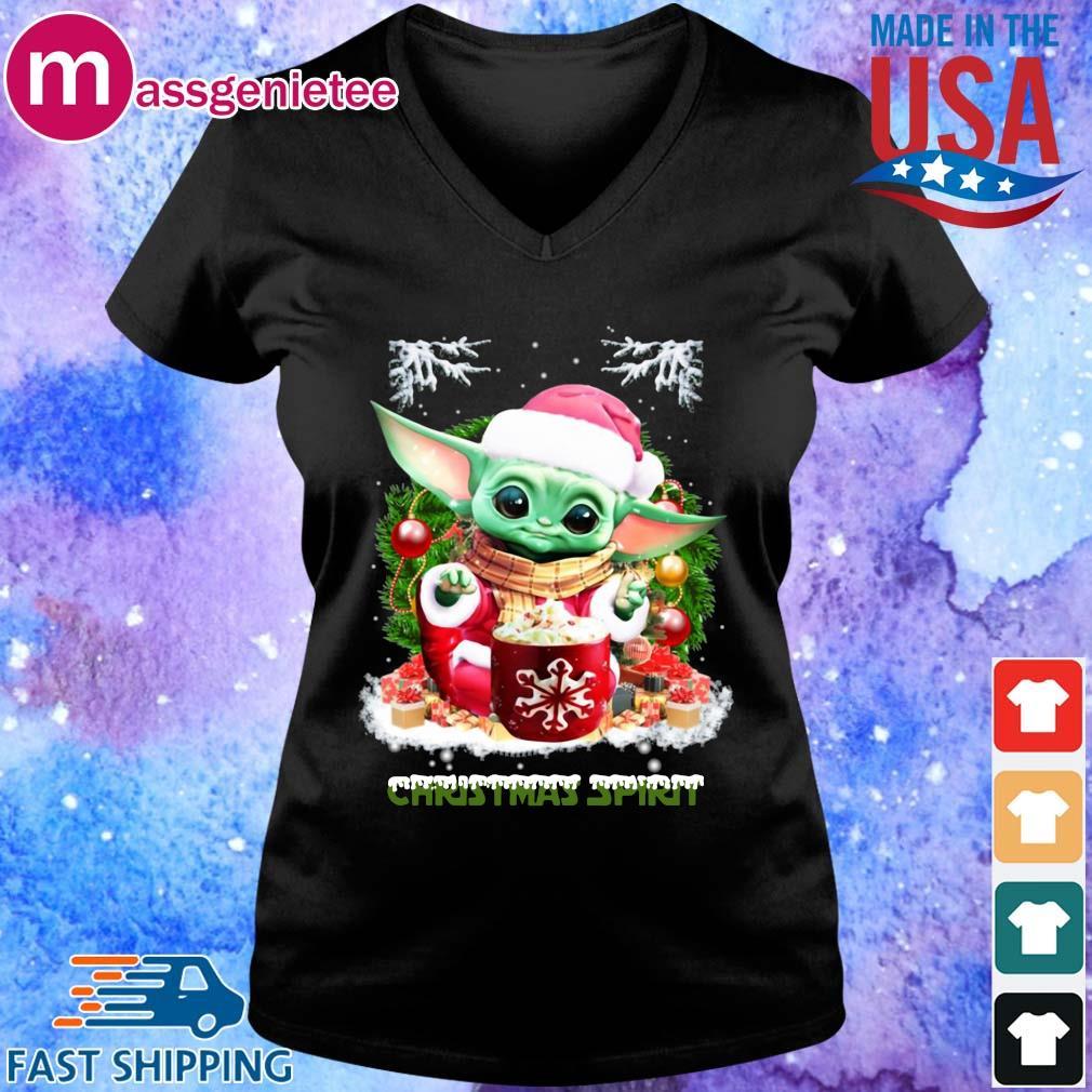 Santa Baby Yoda Christmas spirit sweater V-Neck den