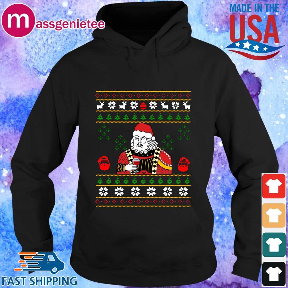Santa Leonardo Dicaprio Ugly Christmas sweater Hoodie den