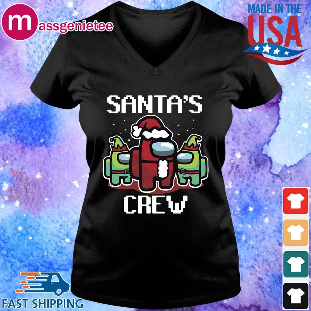 Santa's crew Among Us Christmas sweater V-Neck den
