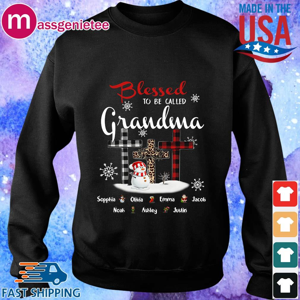 Snowman and Cross blessed to be called Grandma Sophia Olivia Emma Christmas sweater Sweater den