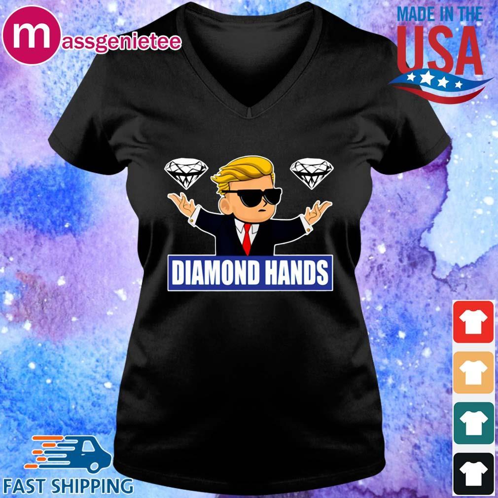 GameStonk Diamond Hands Shirt V-Neck den